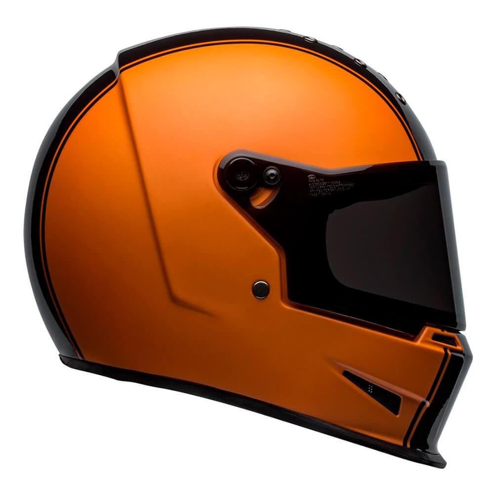 Capacete Bell Eliminator Rally Matte Gloss Black Orange