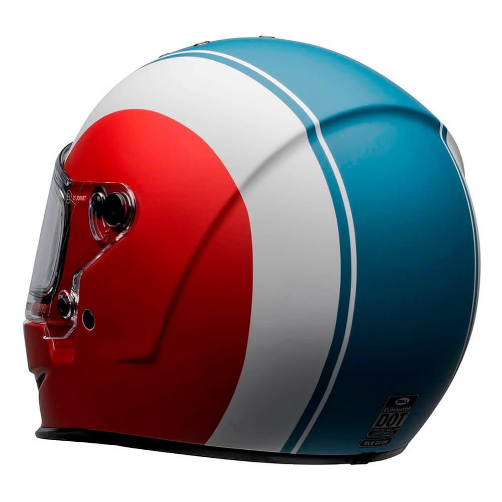 Capacete Bell Eliminator Slayer White Red Blue
