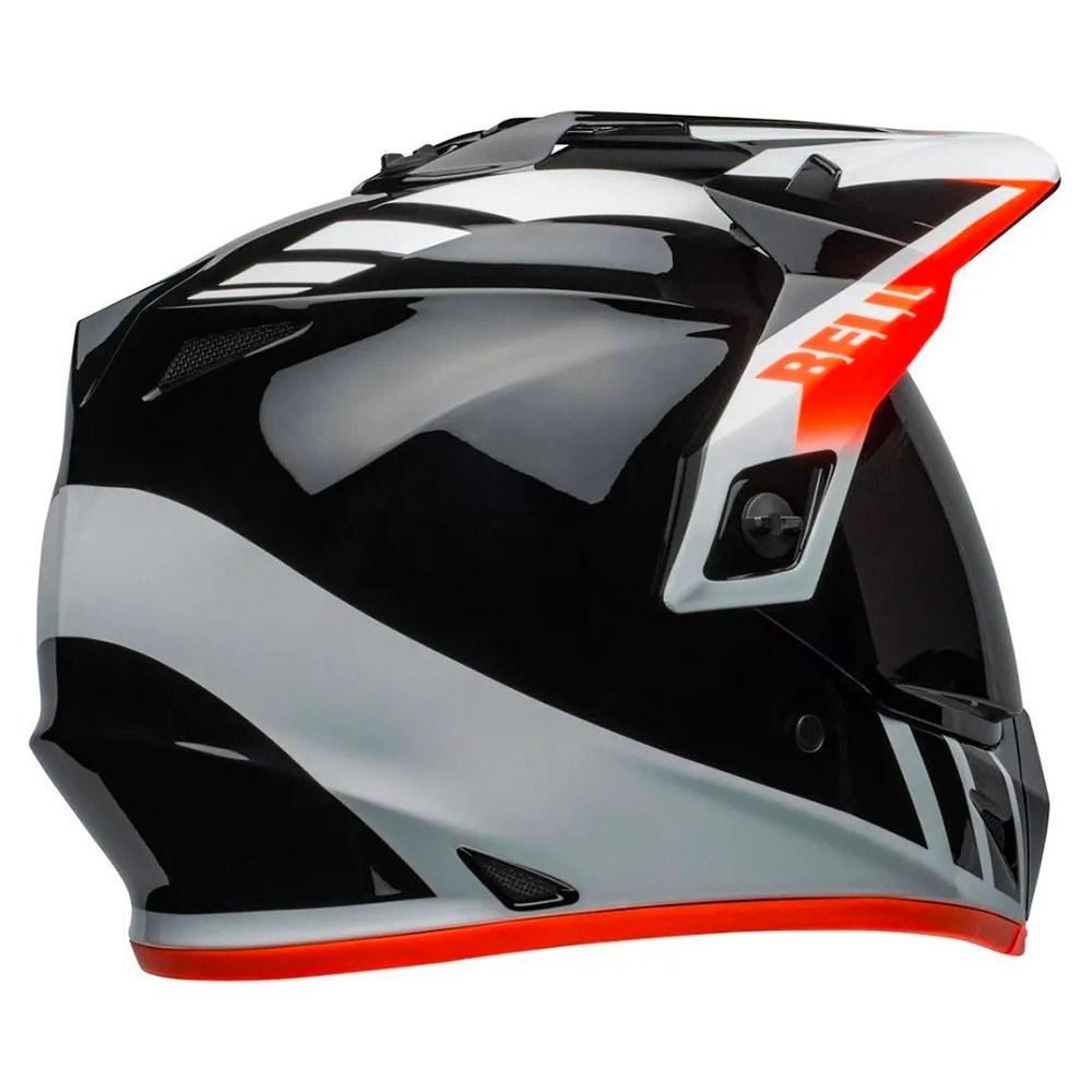 Capacete Bell Mx-9 Adventure Mips Dash Black White Orange