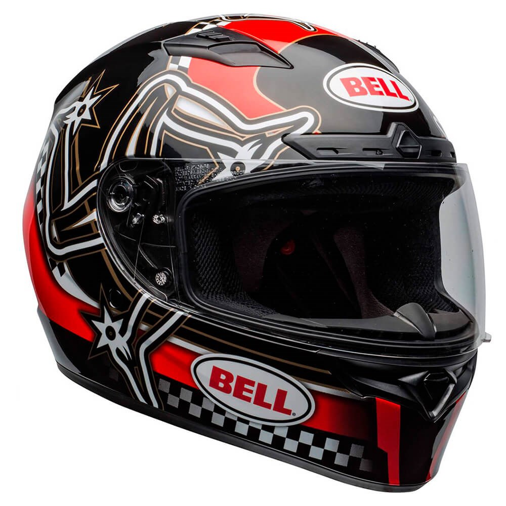 Capacete Bell Qualifier Dlx Mips Isle Of Man Red Black White