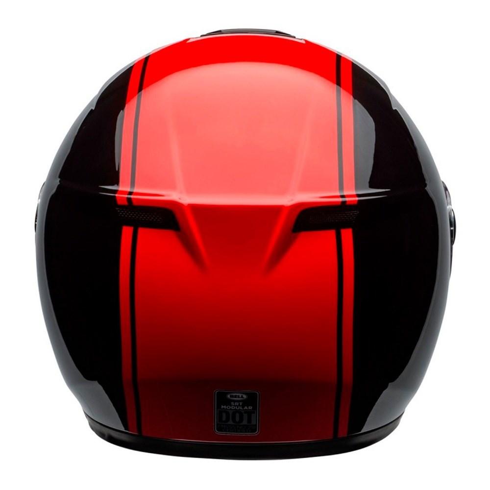 Capacete Bell SRT Modular Ribbon Black Red