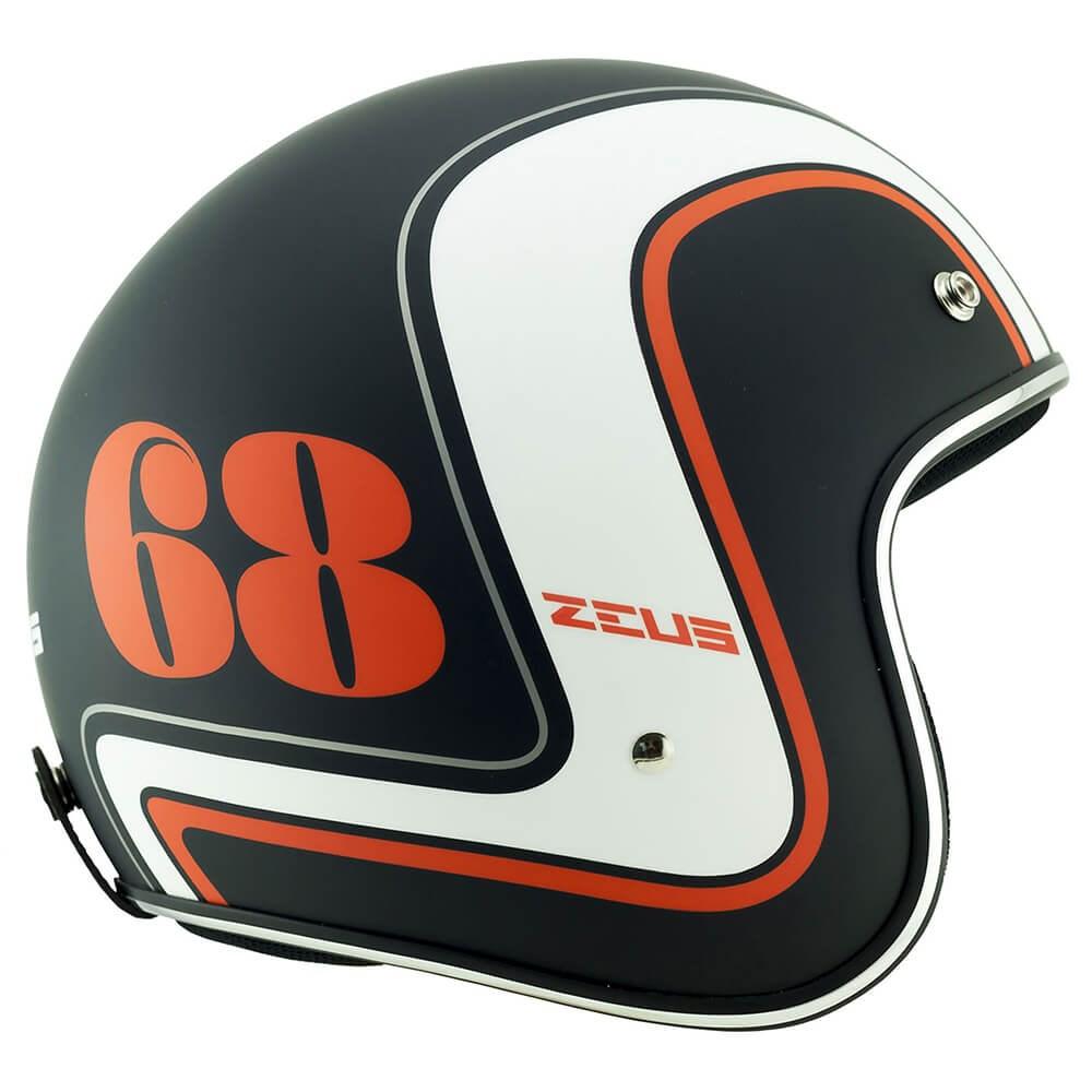 Capacete Zeus 380H Matt Black/K36 Orange