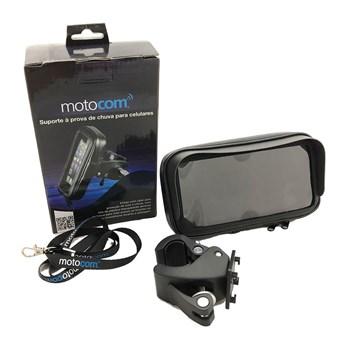 Estojo e Suporte com Ziper de Celular Motocom M
